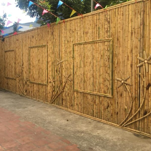 bamboo fence, bamboo material
