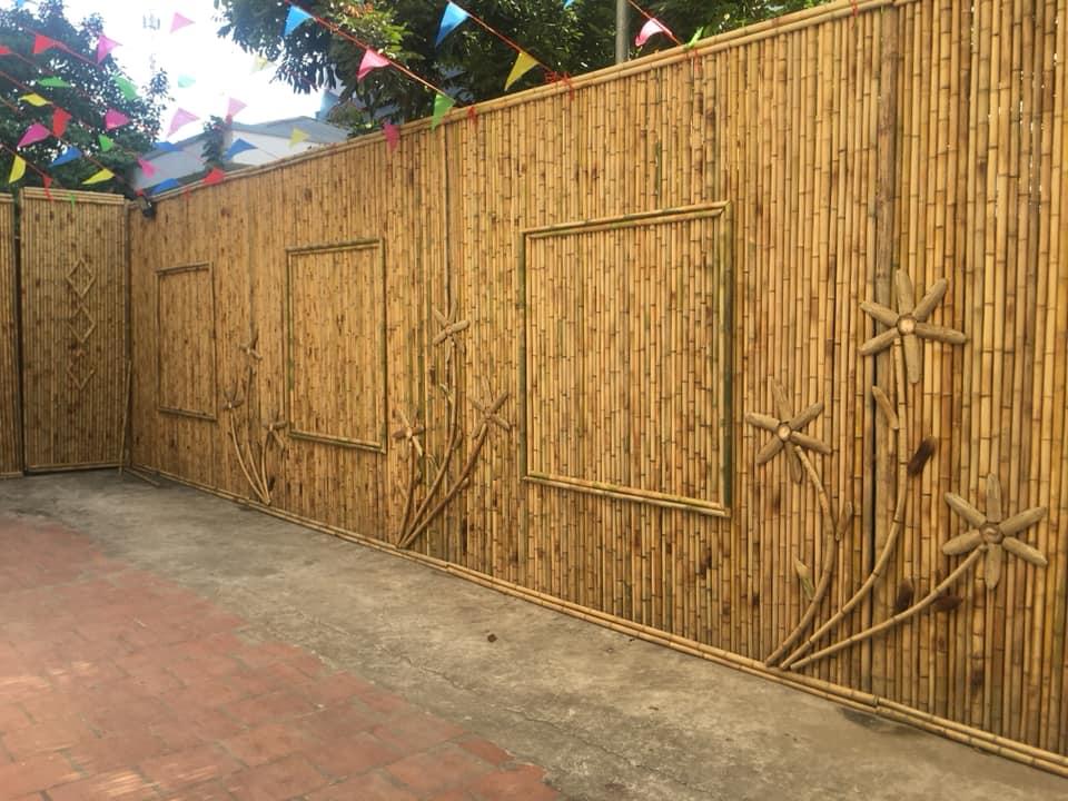 bamboo fence, decoration bamboo